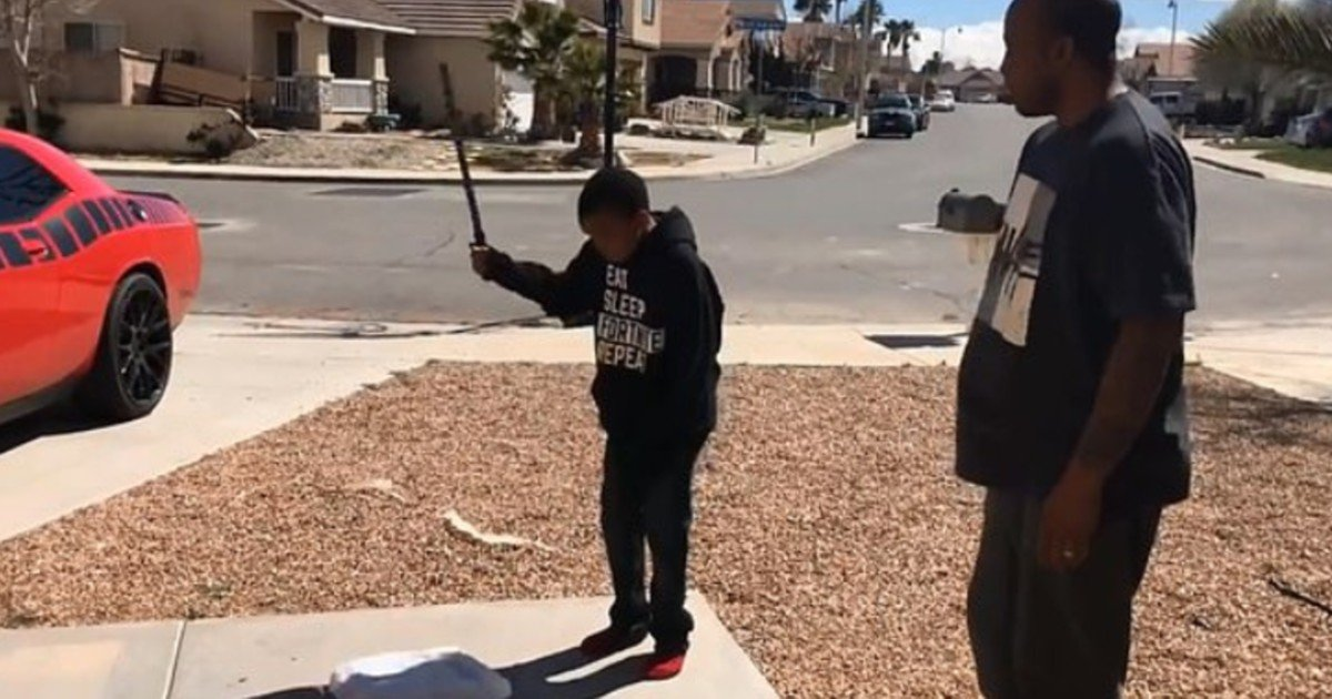 e18486e185aee1848ce185a6 17 1.jpg?resize=1200,630 - Father Made Son Destroy His PlayStation With A Crowbar And Boulder As A Punishment For Failing Grades