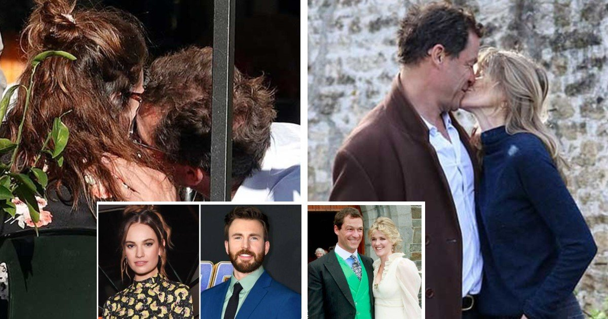 e18486e185aee1848ce185a6 2020 10 15t144542 252.jpg?resize=1200,630 - Married The Affair Actor Dominic West,50 Kisses Young Actress Lily James,31 In Rome And Kisses With His Wife Catherine FitzGerald In Front Of The Home Door