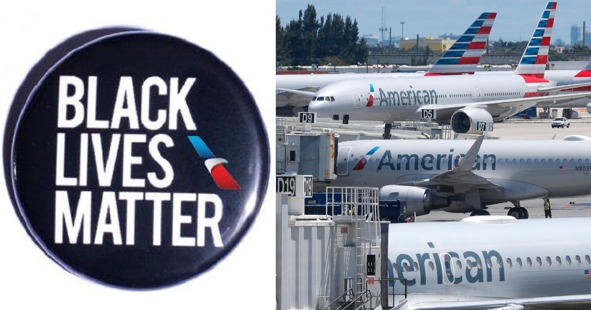 e18486e185aee1848ce185a6 3.jpg?resize=1200,630 - American Airlines Policy Allowing Cabin Crew To Wear Black Lives Matter Pins Faces Backlash