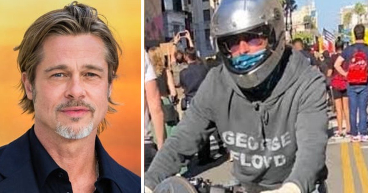 e18486e185aee1848ce185a6 57 1.jpg?resize=412,232 - Brad Pitt Spotted Attending George Floyd Protest Riding His Super Rare BMW Motorbike