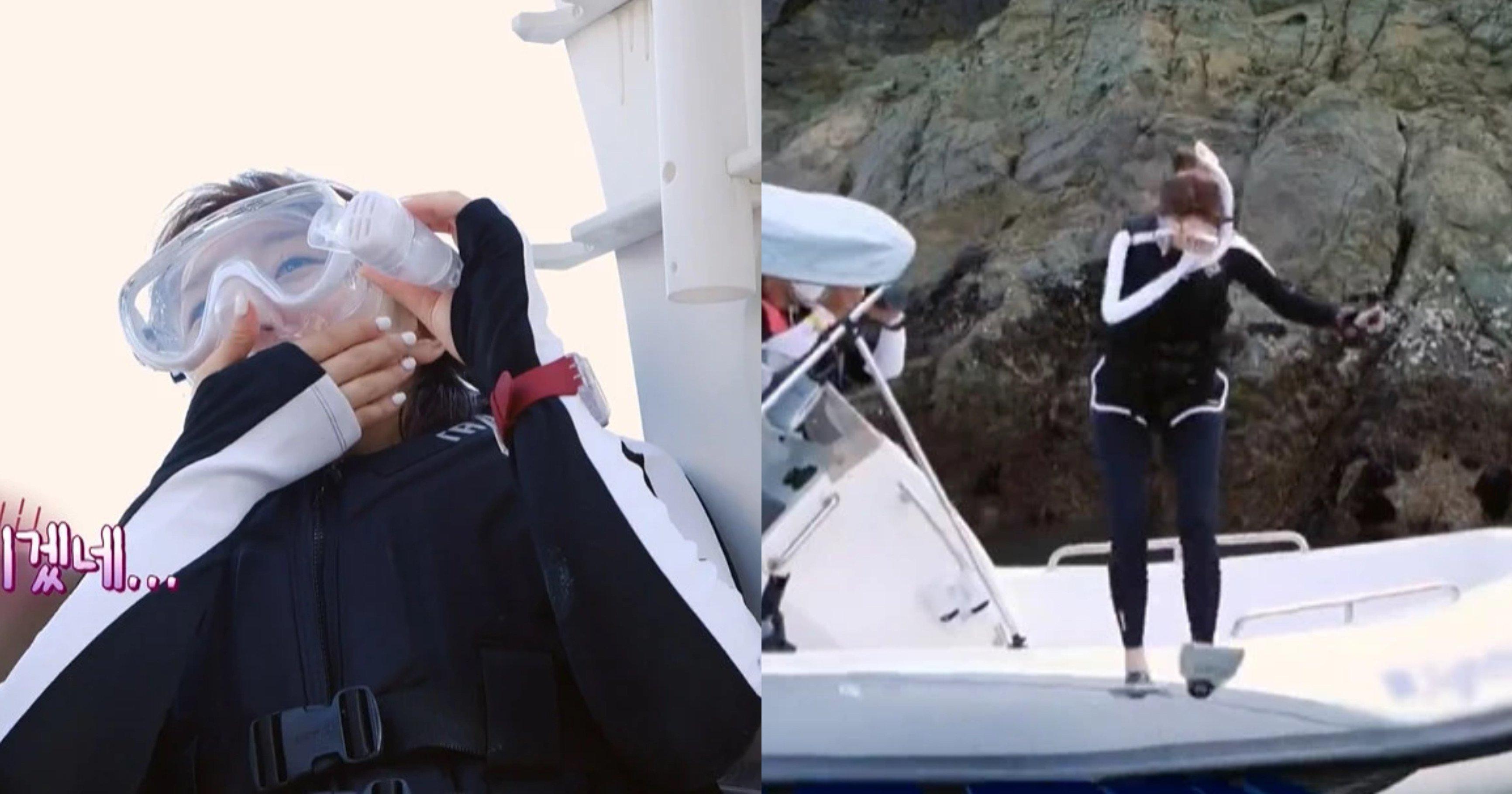 """ebb095ec868ceb8bb4 ec8db8eb84ac.jpg?resize=412,232 - """"손이 떨리고 온 몸에 물이 들어오는 느낌을 받았다...""""...'폐쇄공포증' 있는데 예능 촬영 중 바다에 뛰어든 여배우"""