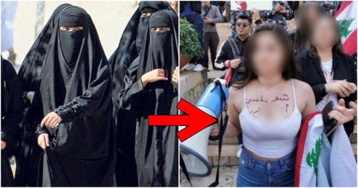 """fcvfvssdc.png?resize=1200,630 - 世界中の男性が衝撃を受けた?!苦しくてヒジャーブを脱いだイスラム女性の""""ルックス"""""""