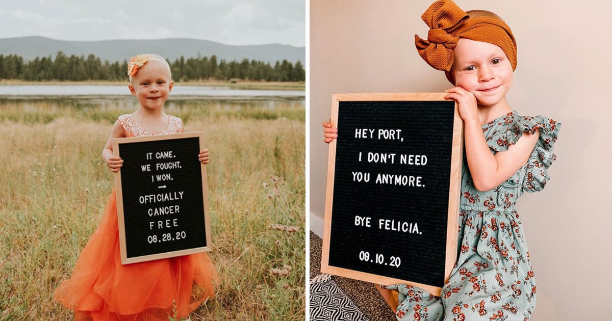 ffffffff.jpg?resize=1200,630 - 4-Year Old Girl Celebrates Cancer Remission With This Adorable Photoshoot