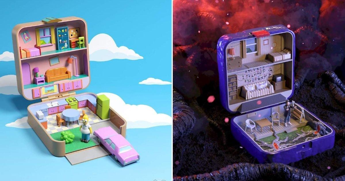 fictional homes reimagined as classic polly pockets e1601656756614.jpeg?resize=412,232 - Insolite : Des Polly Pocket inspirés de séries télé et du cinéma
