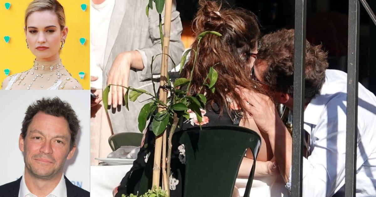 ghjf 1.jpg?resize=1200,630 - Dominic West Who Is Married Gets Caught Kissing With Lily James In Rome