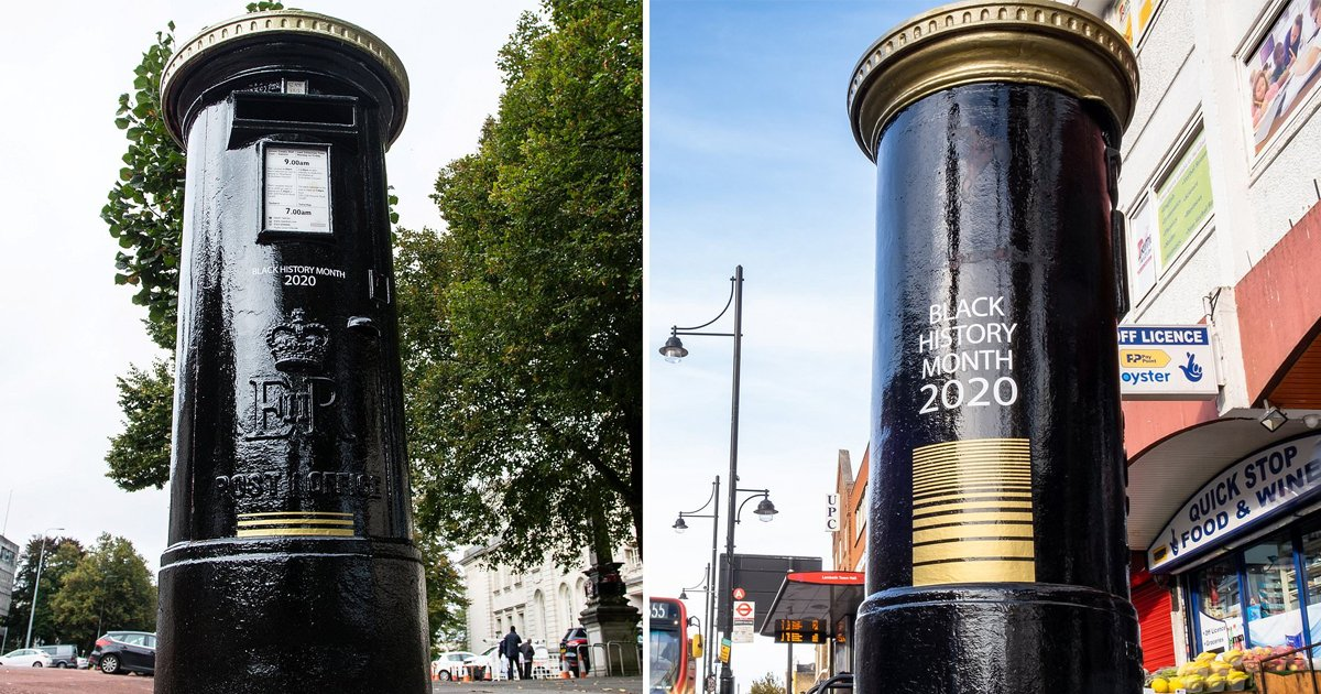 gsgdsgd.jpg?resize=1200,630 - Four Iconic Red Post Boxes Painted Black As Part Of Black History Month
