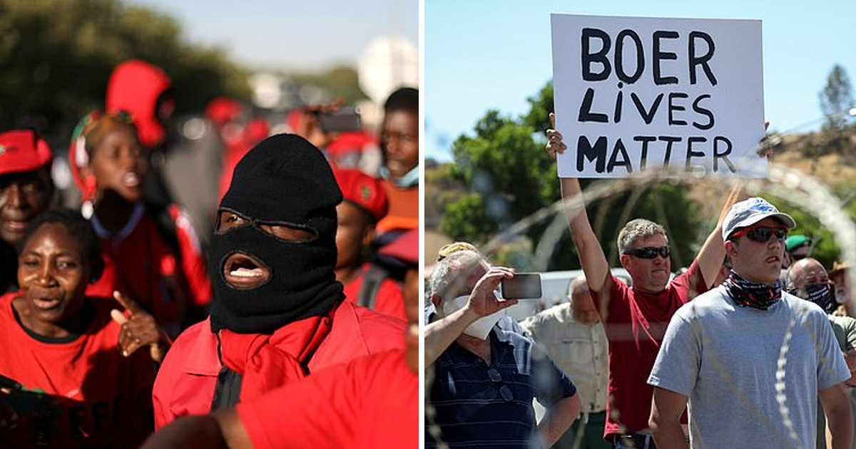 hadsfasdf.jpg?resize=412,232 - Black Protesters Brace For Bloody Fight Off With White Farmers Amid Farm Murder Case