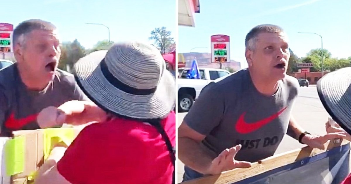hahdg.jpg?resize=412,232 - Footage Goes Viral As Utah's MAGA Supporter 'Deliberately' Coughs On BLM Protesters