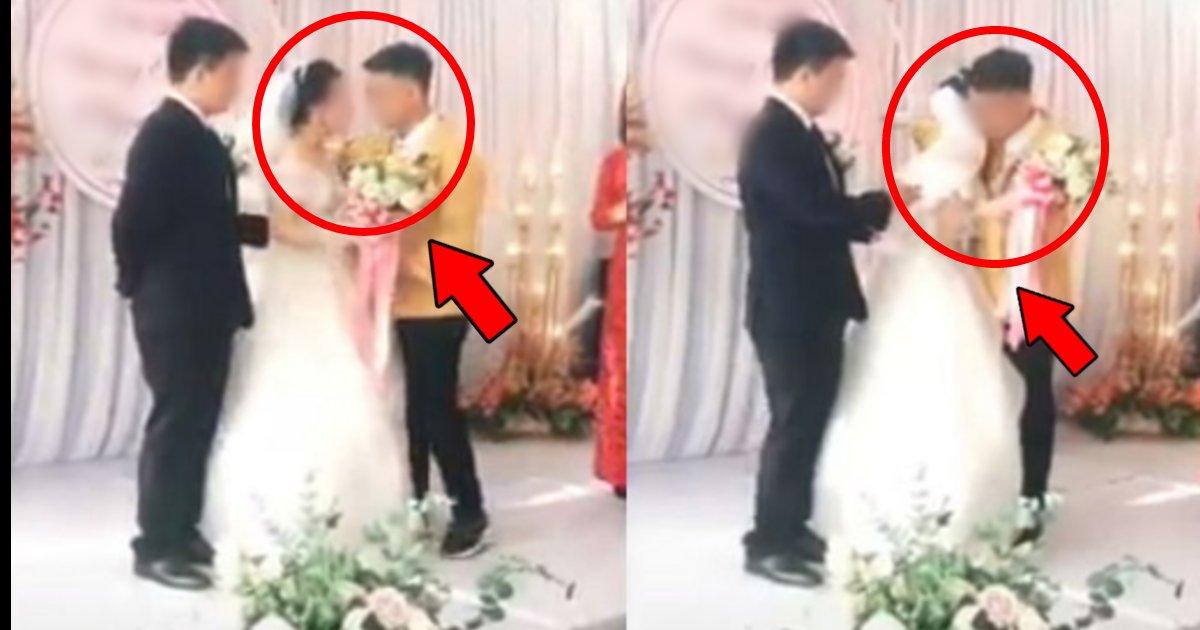 kekkonnsiki.png?resize=412,232 - 元カノの結婚式に乱入した男性が突如手を取りハグする場違いな行為に「新郎がぼっち状態になってる件な…」