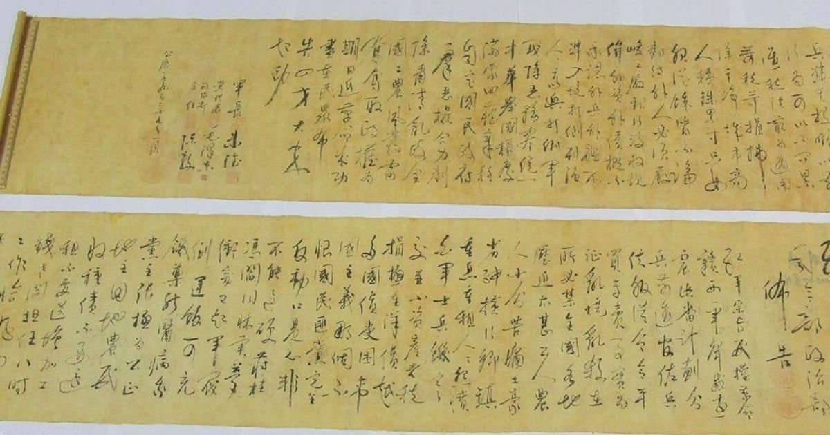 scroll.jpg?resize=1200,630 - Man Ripped Mao Zedong Scroll 'Worth Millions' Thinking It Was A Counterfeit
