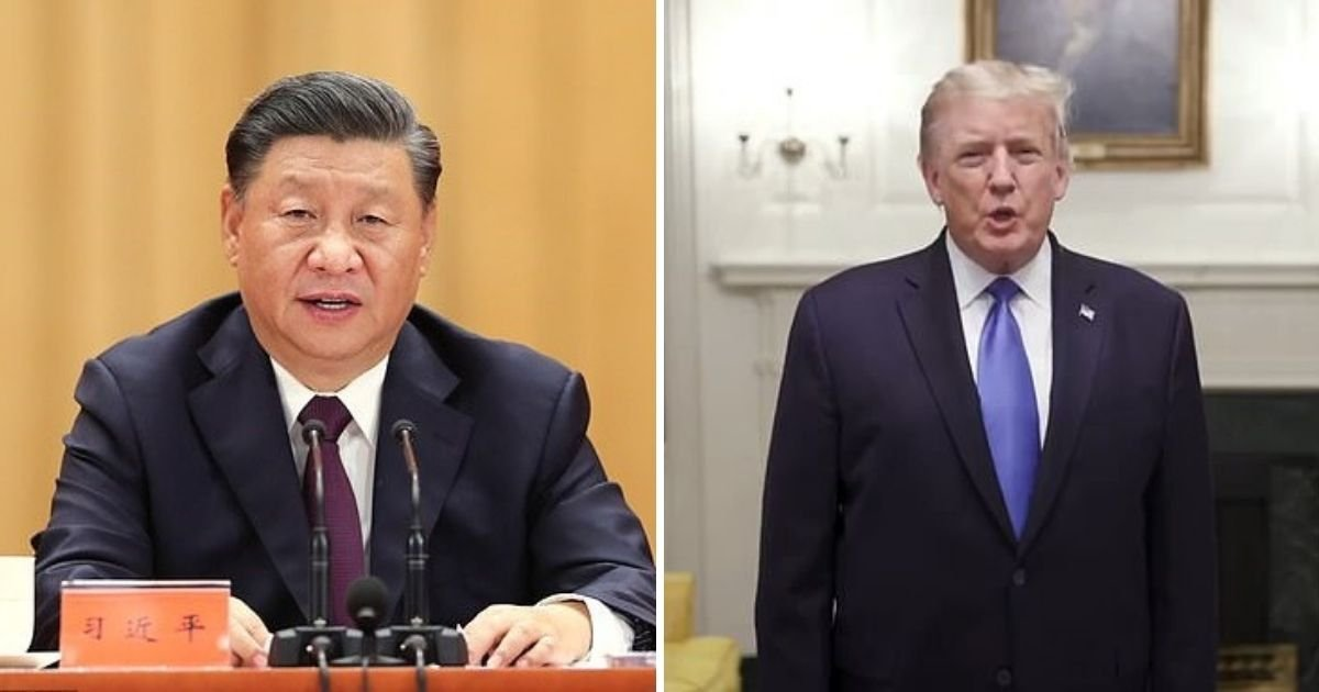 trump4 2.jpg?resize=1200,630 - China's President Xi Jinping Wishes Donald Trump And First Lady A Quick Recovery After Their Coronavirus Diagnosis