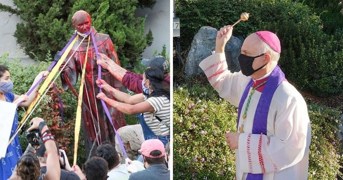 untitled design 1 16.jpg?resize=1200,630 - Archbishop Performs Exorcism After Protesters Topple Statue Of A Priest
