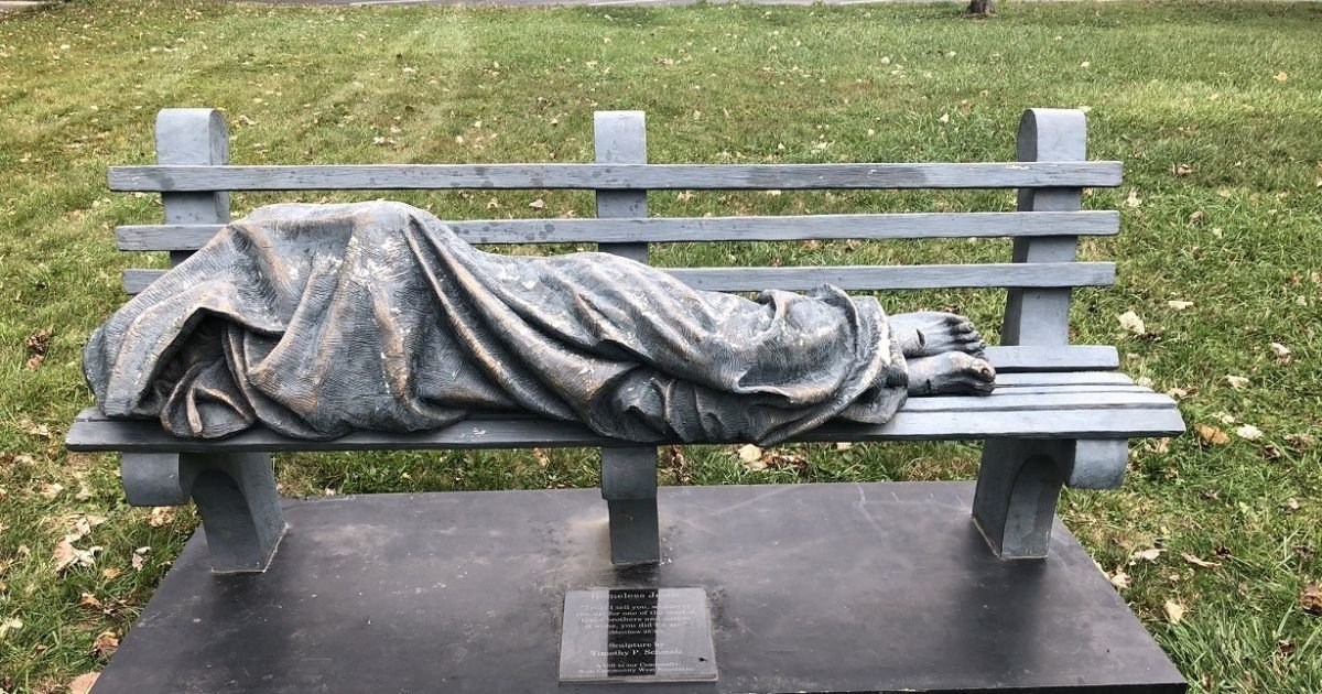 untitled design 2 16.jpg?resize=412,232 - Police Called On 'Homeless Jesus' Located Outside A Church