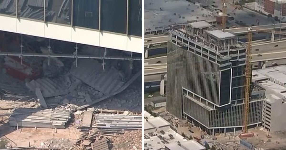 untitled design 2 4.jpg?resize=1200,630 - Three Dead As Skyscraper Stairwell Partially Collapses In Texas