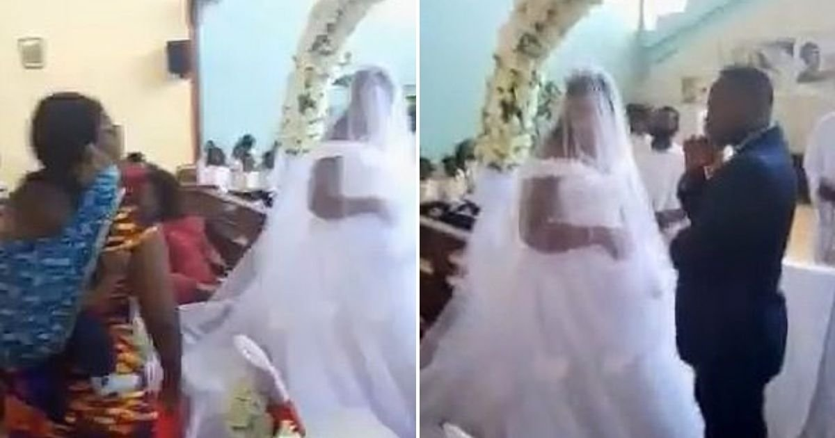 wife4.jpg?resize=1200,630 - Angry Woman Interrupts Wedding And Claims The Groom Is Her Husband