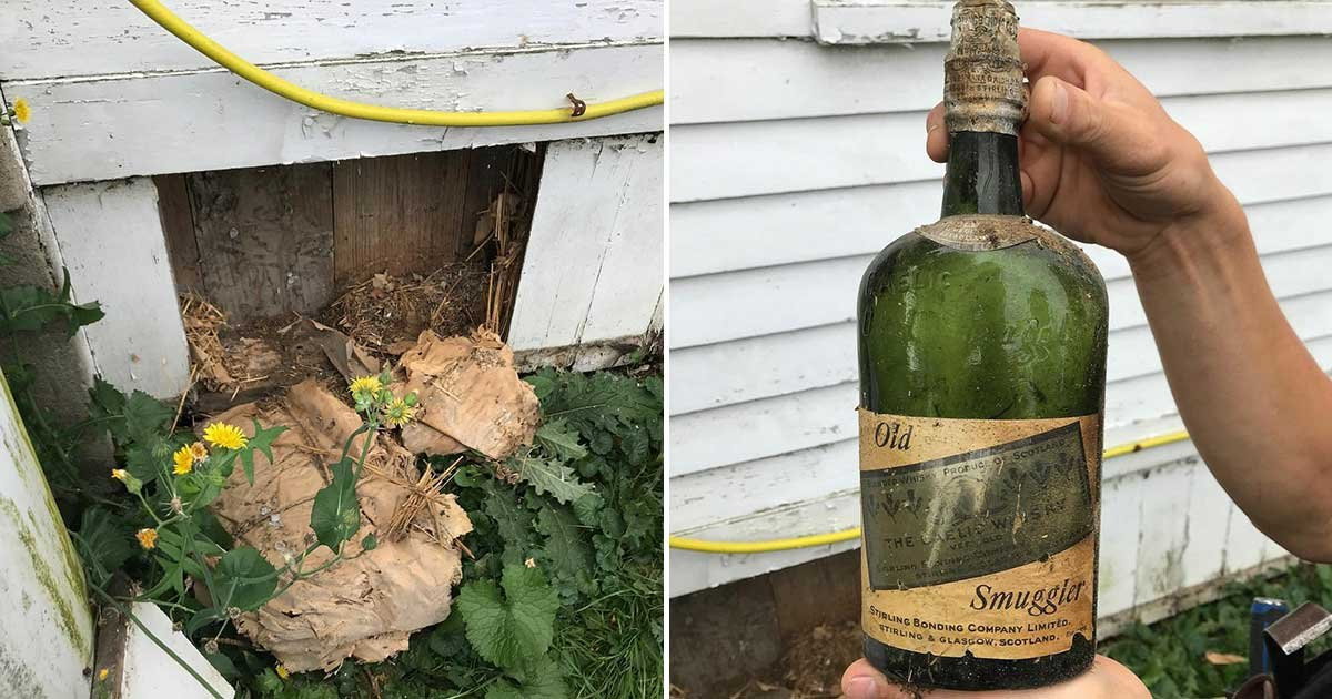 1 187.jpg?resize=412,275 - NY Couple Finds Prohibiton-Era Whiskey Within The Walls Of Their Home