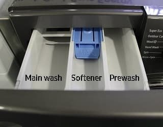 What are the 3 Compartments in a Washing Machine Drawer