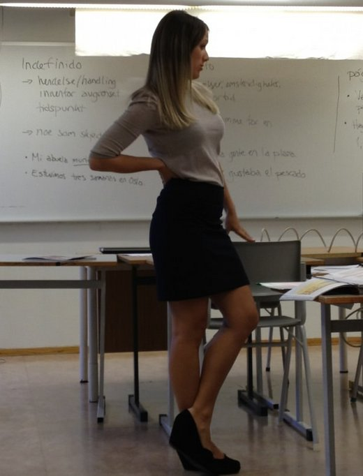 attractive teacher