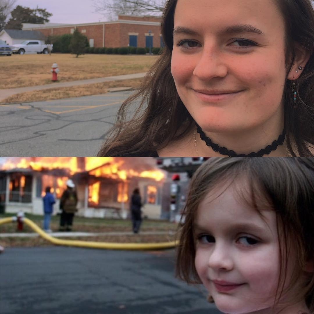 house on fire meme