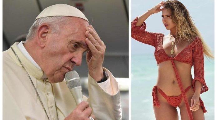 """Crónica / Modelo pureó por ¿""""me gusta"""" papal?"""