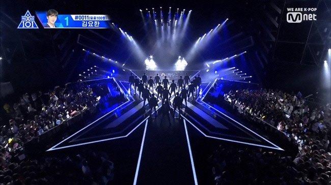 오디션 참가자들의 순위를 조작했다는 사실이 드러난 엠넷(Mnet)의 <프로듀스 101> 방송 화면. 엠넷 제공