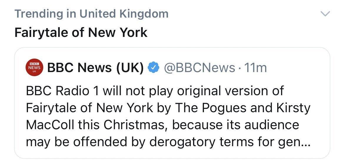 "Scott Bryan on Twitter: ""BBC Radio 1 is tweaking the lyrics to The Pogue"