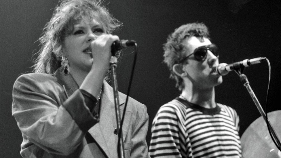 Kirsty MacColl and Shane MacGowan
