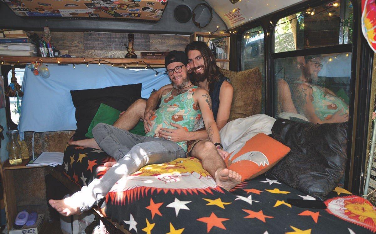 Two Men, a Dog, a Van and a Baby: A San Antonio Couple