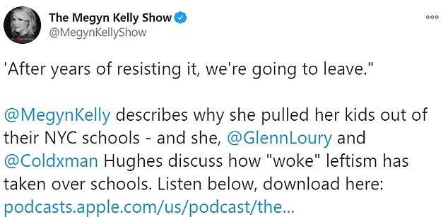 Megyn Kelly says she