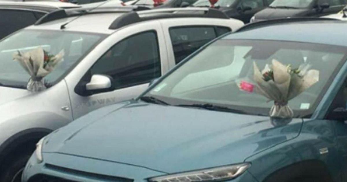 5fa168aa240000d51bb038e3 e1604509208881.jpeg?resize=412,232 - Une grossiste dépose des fleurs sur les voitures du personnel hospitalier de Perpignan