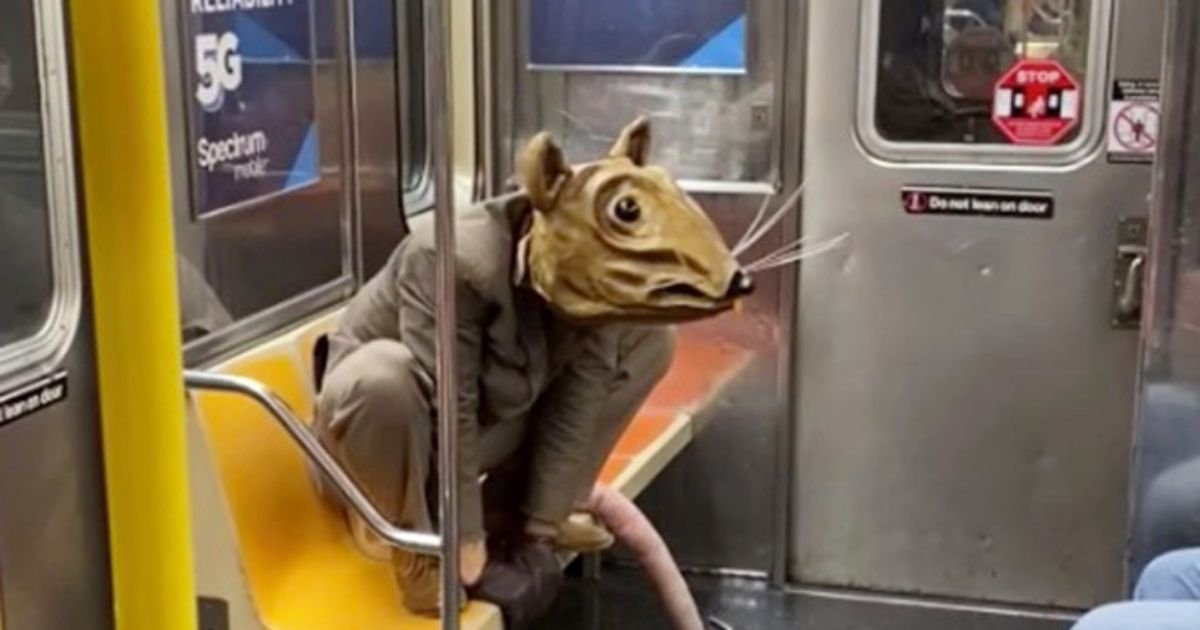 6 40.jpg?resize=1200,630 - Man Dressed As Huge Rat Takes Subway Mask Requirement To Next Level