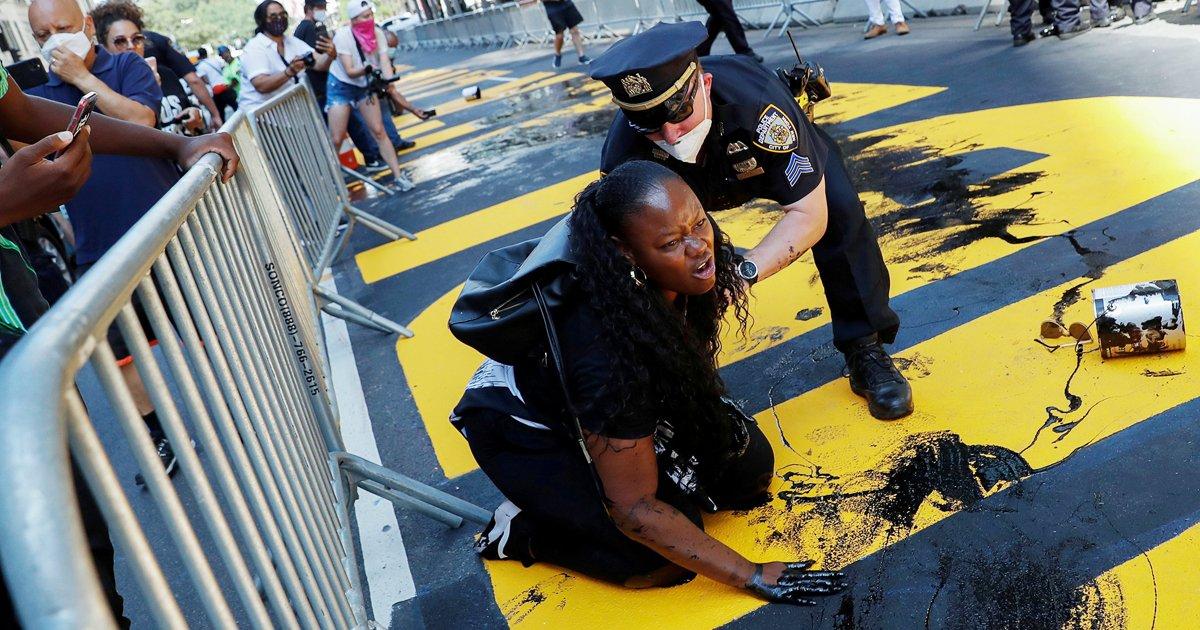 aaaaaaaaaaaaa.jpg?resize=1200,630 - Vandals Attack Black Lives Matter Mural Outside Trump Tower For The 3rd Time