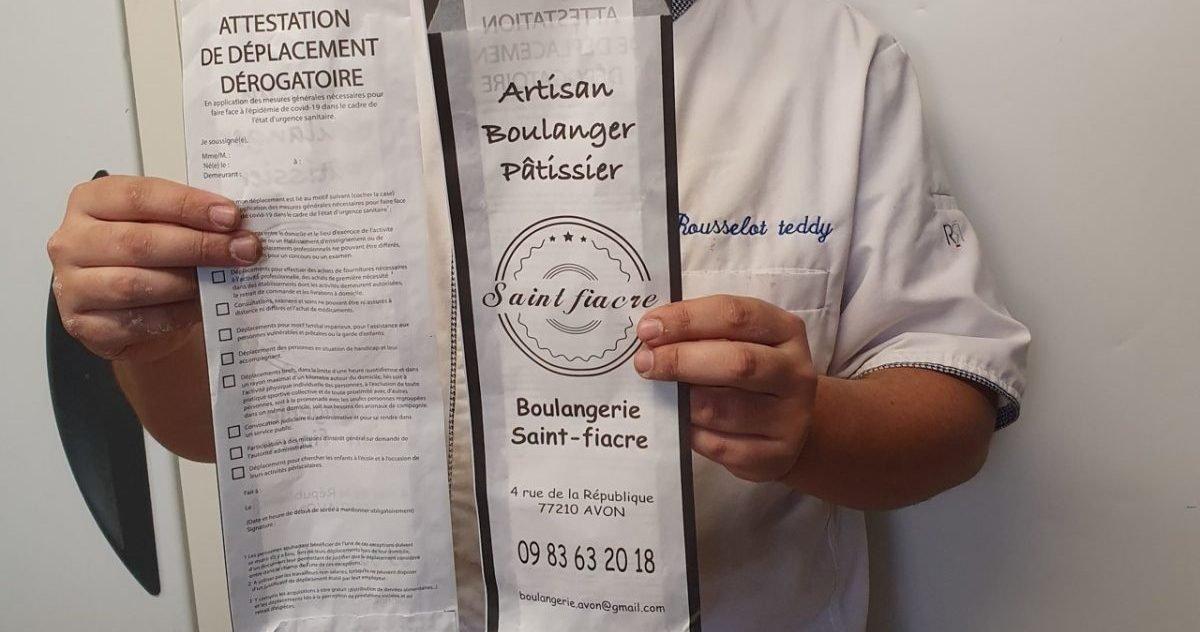 actu fr 1 e1605804453472.jpg?resize=1200,630 - Confinement : Un boulanger vend ses baguettes dans une attestation de déplacement