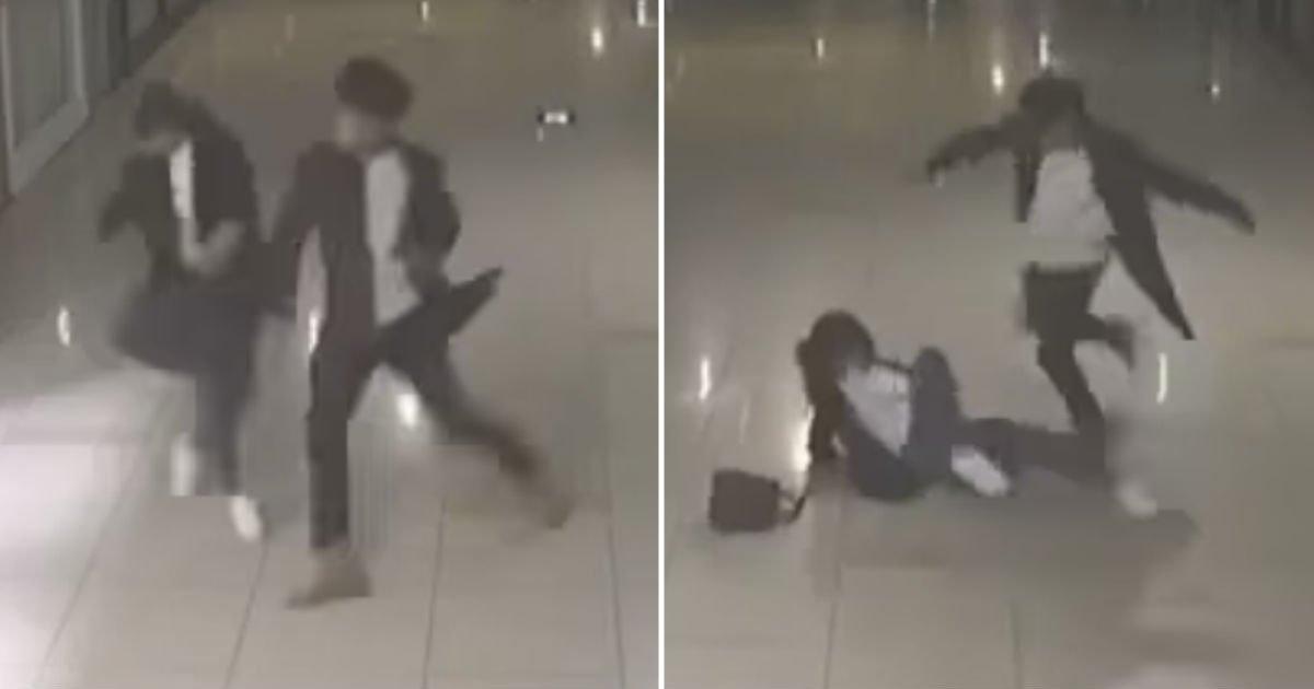 cctv.jpg?resize=412,232 - 부산 '덕천 지하상가'서 격한 몸싸움 벌이다 기절한 여성...충격적인 CCTV 영상