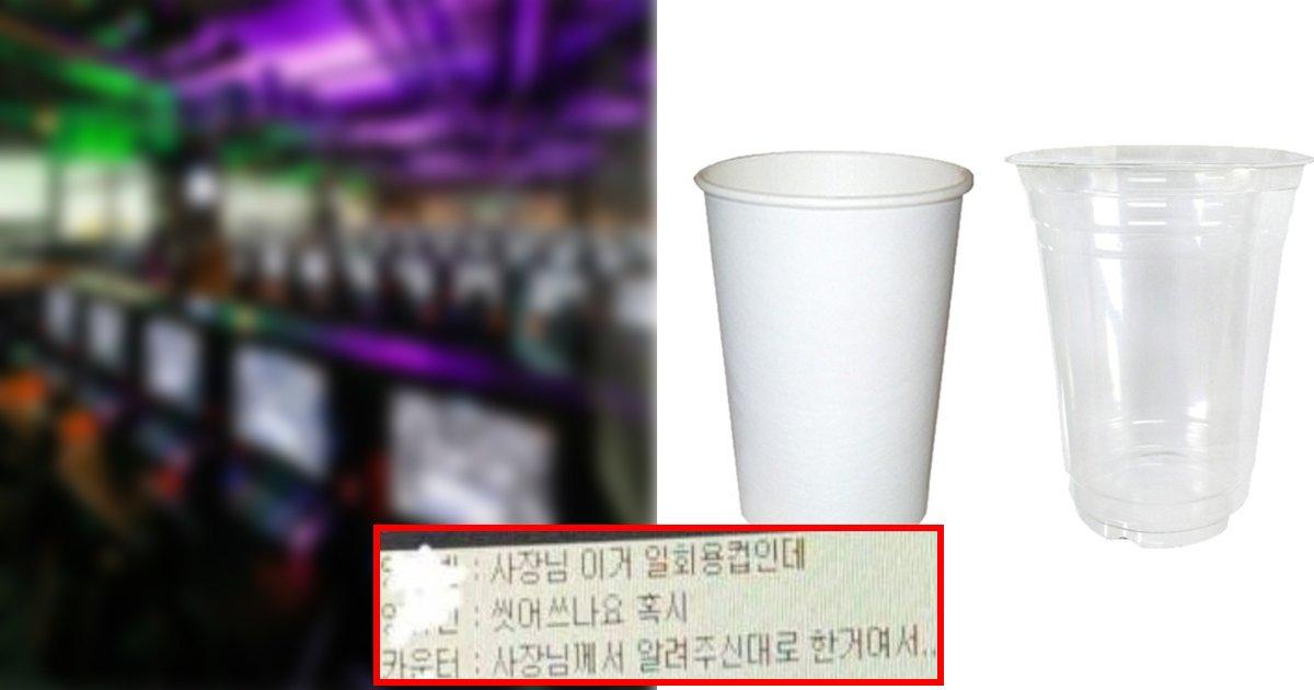 ecbbb5.jpg?resize=1200,630 - ' 여기 절대 가지 마세요' ... 손님에게 사용한 일회용 컵 씻어서 다시 다른 손님에게 재사용하는 pc방
