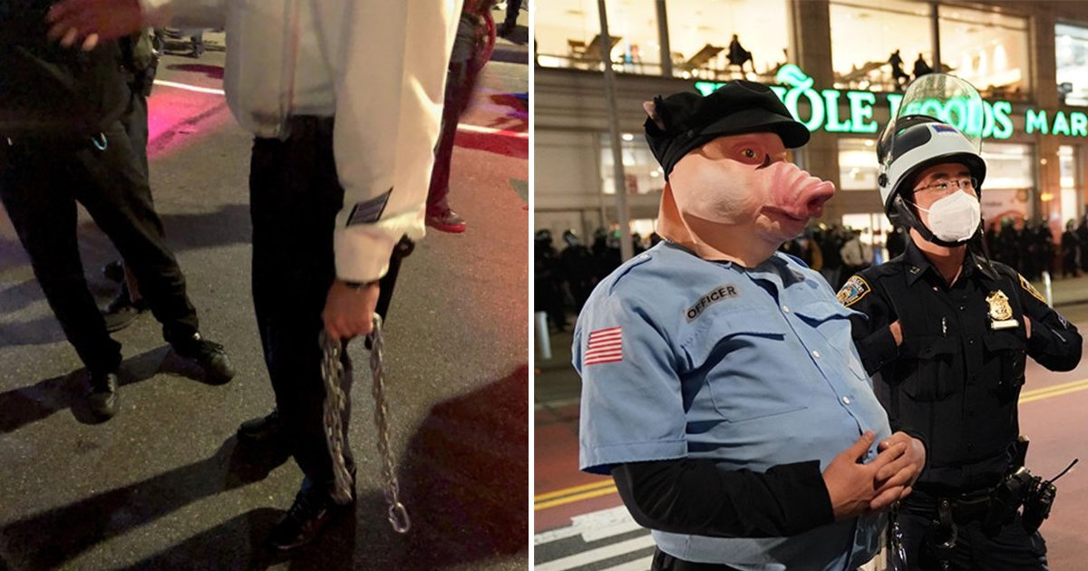 gagd.jpg?resize=1200,630 - NYC Protest Takes Ugly Turn As Man Viciously Attempts To Strangle NYPD Cop With Chain