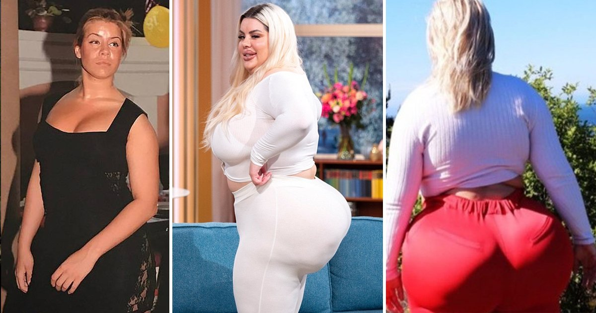 gsdgsgd.jpg?resize=1200,630 - Natasha Crown Before Surgery: A Woman Aspiring To Get The 'Biggest Bum' In The World
