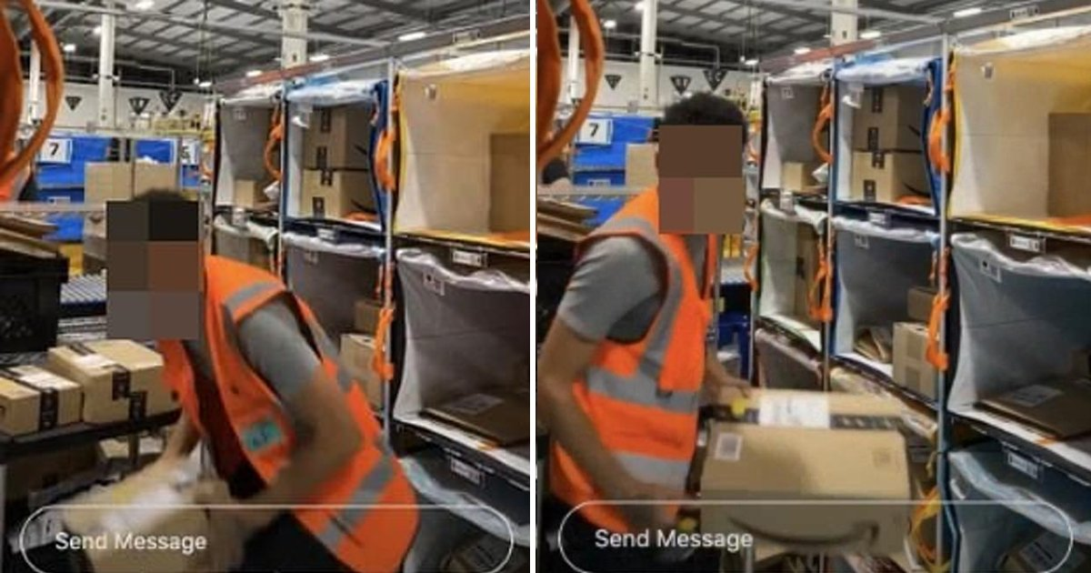 gssdfsdf.jpg?resize=1200,630 - New Video Shows Amazon Delivery Worker Intentionally Damaging Parcels With Pleasure