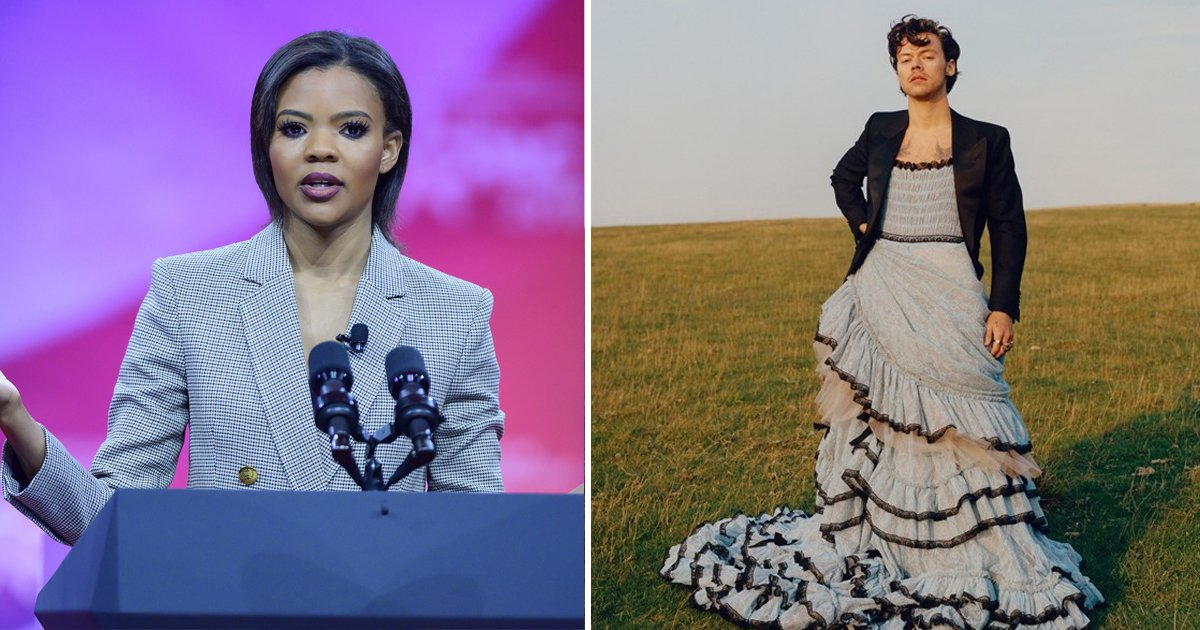 hadfahaaa.jpg?resize=574,582 - Candace Owens Attacks Harry Styles For Wearing A Gown On Historic Vogue Cover