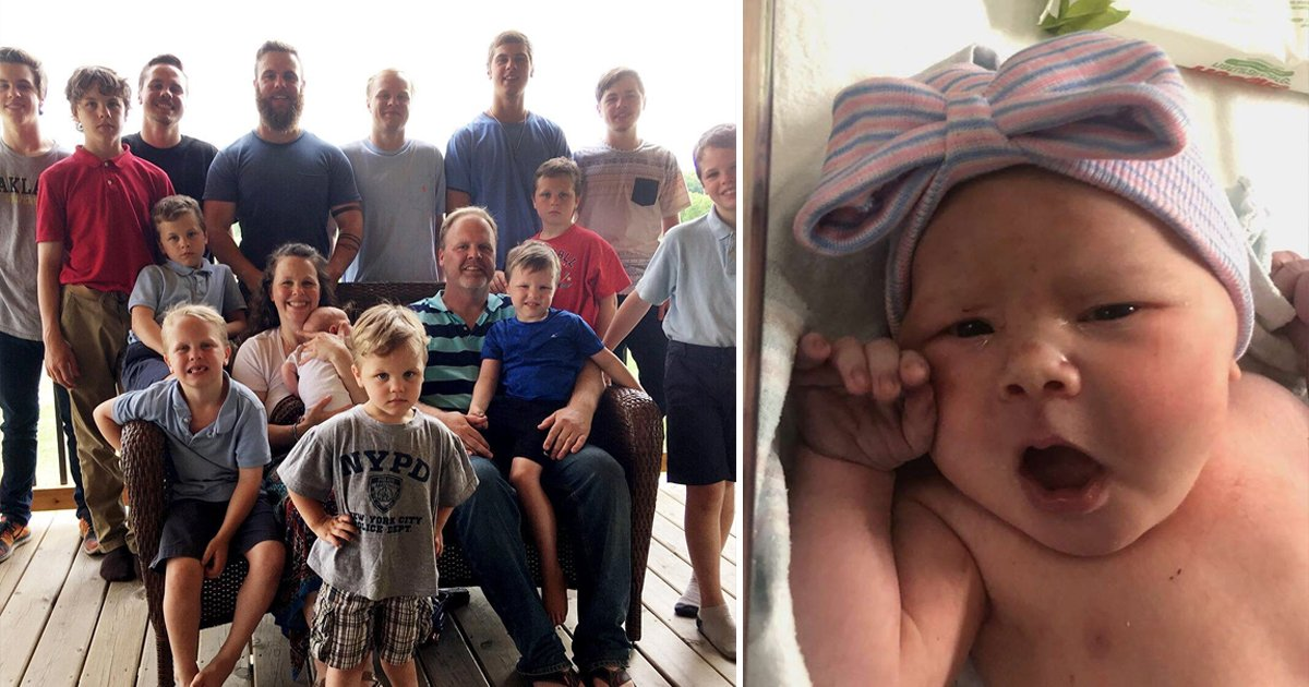 hsdgsdg.jpg?resize=1200,630 - After FOURTEEN Boys In A Row, Michigan Couple Welcomes Beautiful Baby Girl