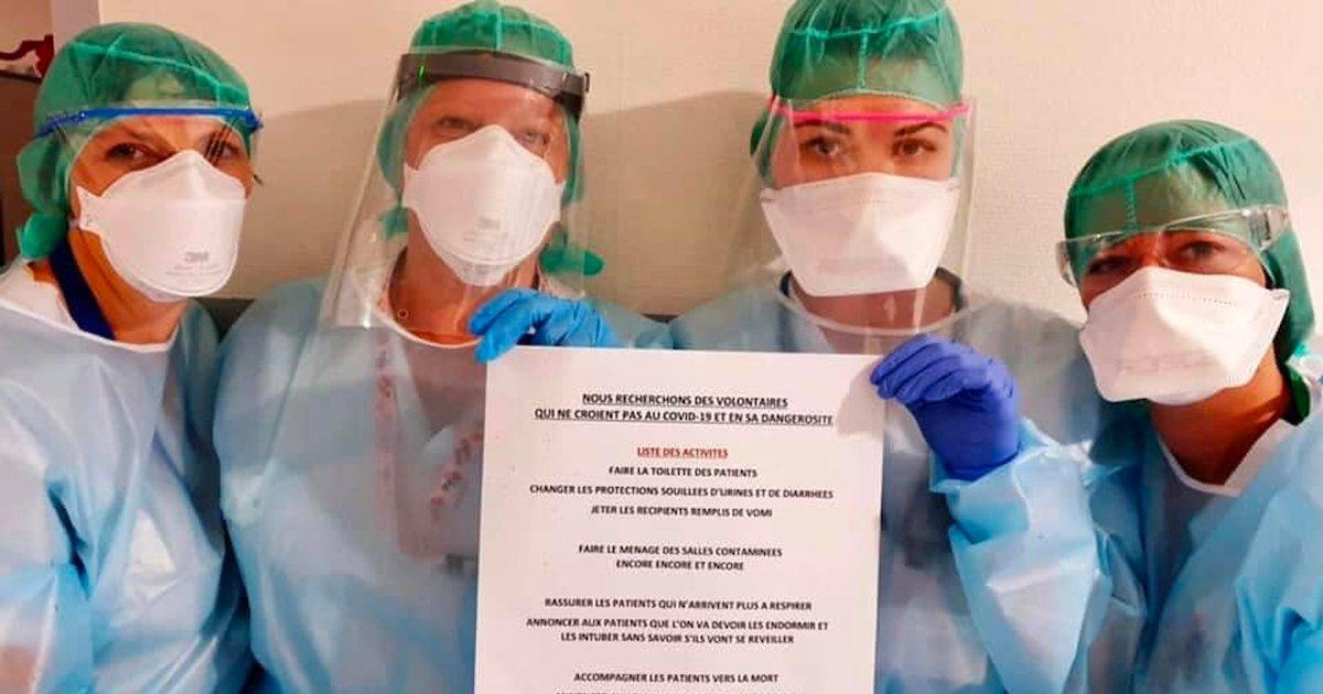 infirmieres.png?resize=1200,630 - Une infirmière a publié un message viral pour ceux qui ne croient pas au danger du Covid-19