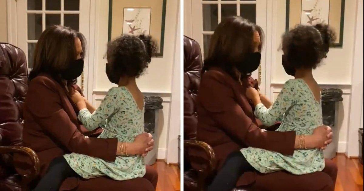 kamala harris and her grand niece e1604698533630.jpeg?resize=1200,630 - Etats-Unis : la vidéo émouvante entre Kamala Harris et sa petite-nièce