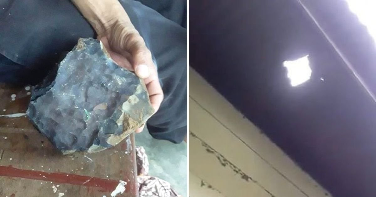 meteorite6.jpg?resize=1200,630 - Man Becomes An Instant Millionaire After A Meteorite Worth $1.85M Smashed through His Roof