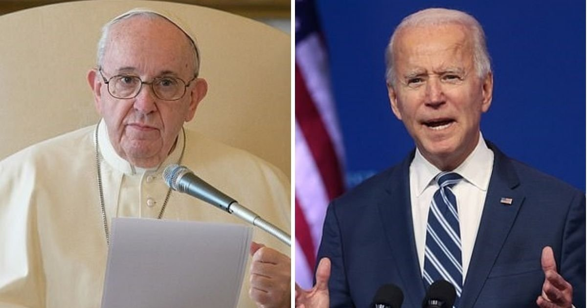 pope3 1.jpg?resize=1200,630 - Pope Francis Congratulates President-Elect Joe Biden On His Victory