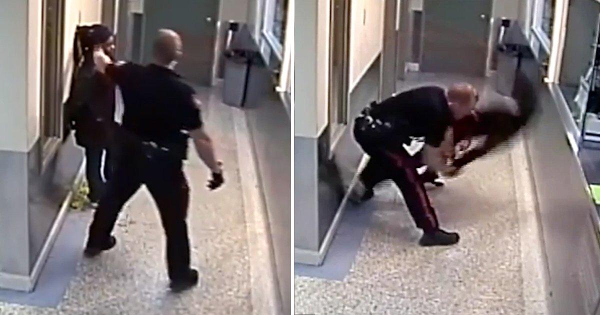 sadf.jpg?resize=1200,630 - Video Shows A Cop Body-slamming Black Woman In Handcuffs