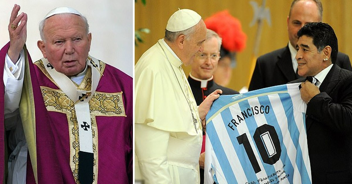 """sdggsdg.jpg?resize=412,232 - """"If The Pope Is So Concerned About Poor Kids, Sell The Vatican's Gold Ceilings"""" - Diego Maradona"""