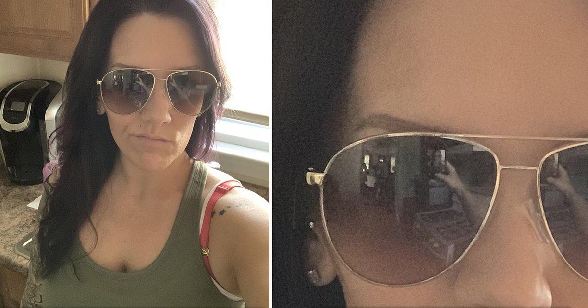 ssssssssssss.jpg?resize=1200,630 - Selfie Scare: Home Alone Mum Spots Two Chilling Figures In Sunglasses Reflection