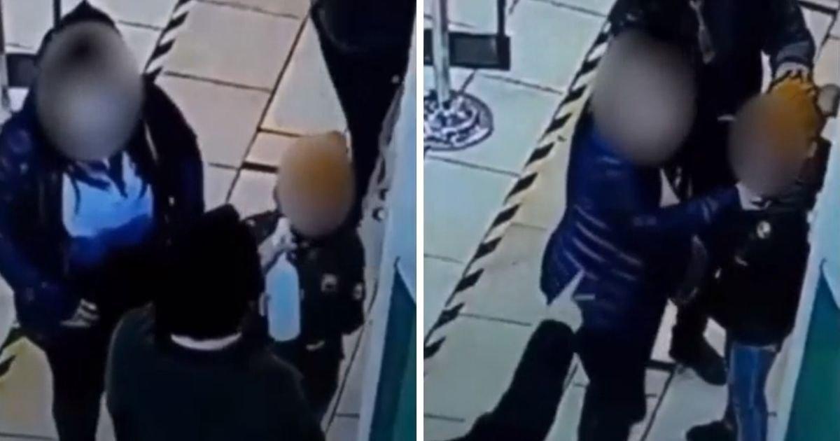 untitled design 4 2.jpg?resize=1200,630 - Security Worker Sprays Hand Sanitizer In Little Girl's Face