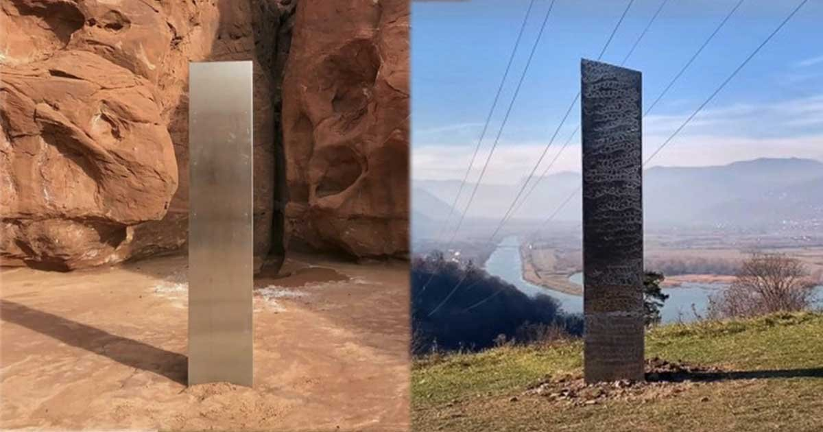 1 5.jpg?resize=412,275 - Mysterious Metal Monolith Appears In Romania Day After Disappearing In Utah