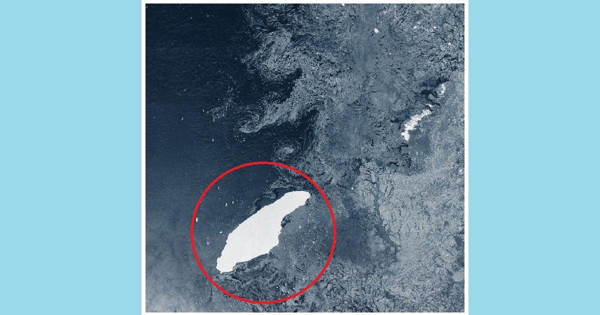 1 ice.jpg?resize=412,232 - Le plus gros iceberg du monde est sur le point d'entrer en collision avec une île